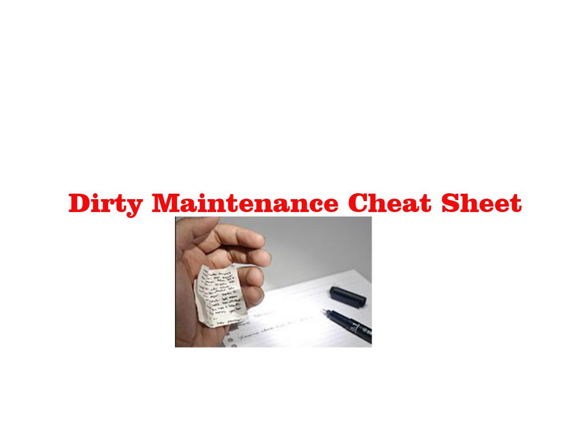 APARTMENT MAINTENANCE TECHNICIAN CHEAT SHEET